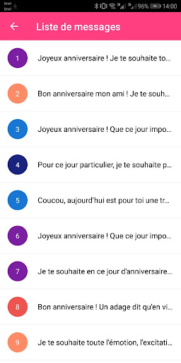SMS Anniversaire 2020 4.0 screenshots 3