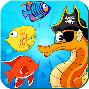 Pirate Seahorse match 3 - find the treasure‏