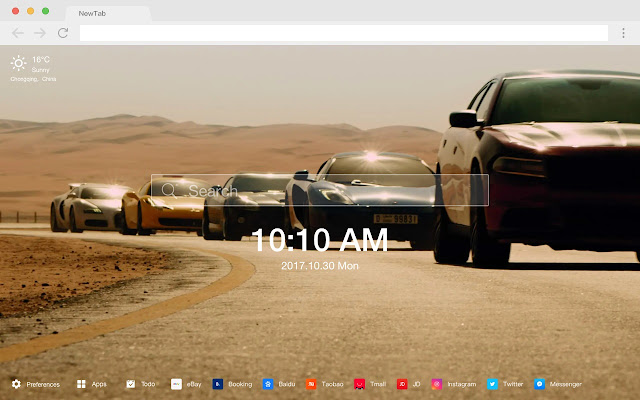 Fast and Furious Pop movie HD New tab Theme