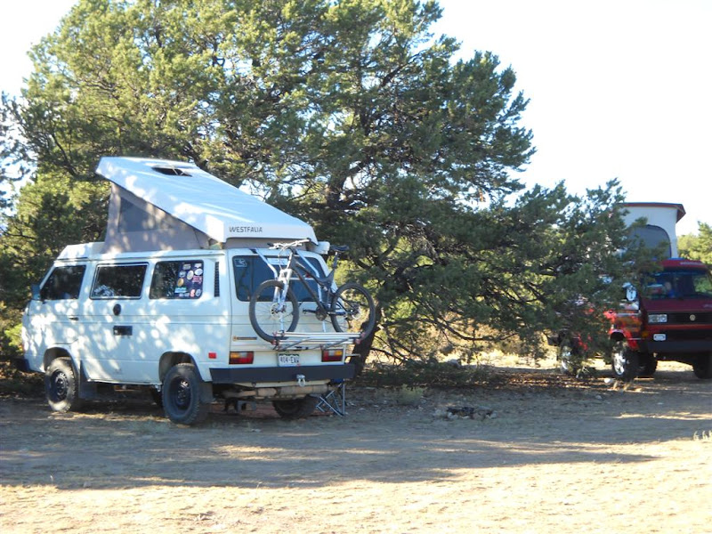 Photo: We camped in the same spot as five years ago--off the road to the Shavano trailhead