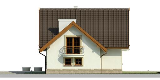 Dom przy Cyprysowej 11 - Elewacja prawa