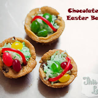 Chocolate Chip Easter Baskets.
