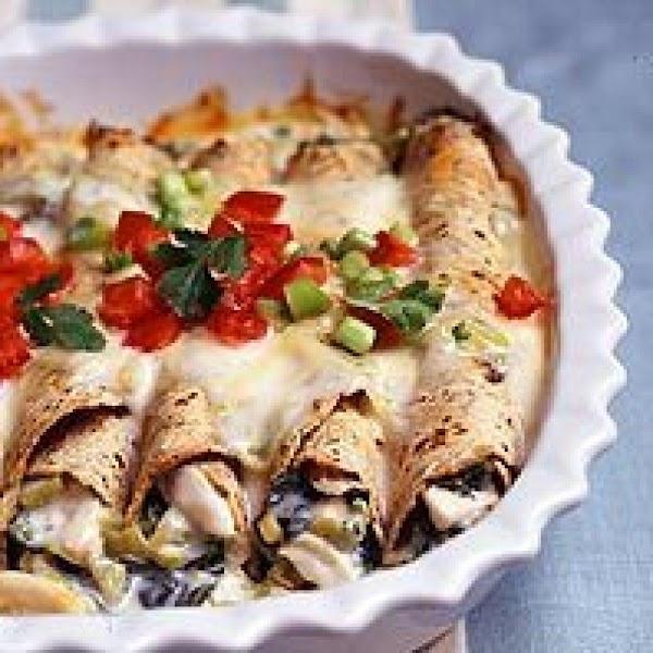 Creamy Chicken Enchiladas Heart Friendly Recipe