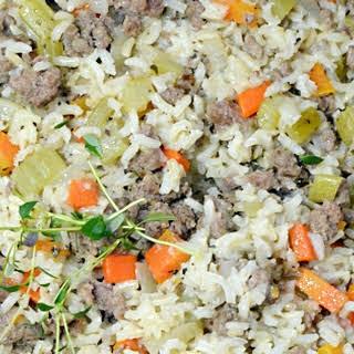 Hamburger Rice Skillet.
