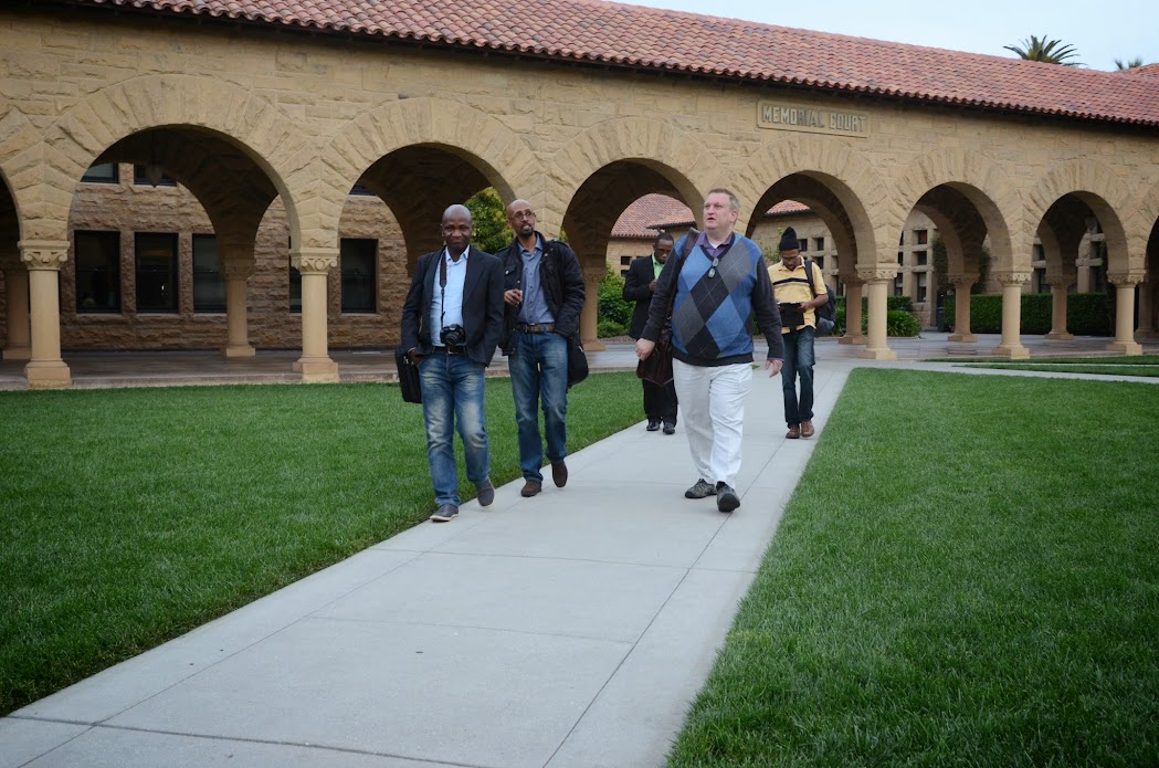 IVLP new media fellows at Stanford University campus