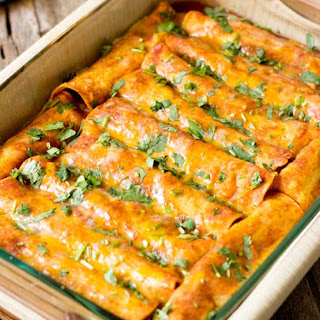 Black Bean Vegan Enchiladas #Recipe