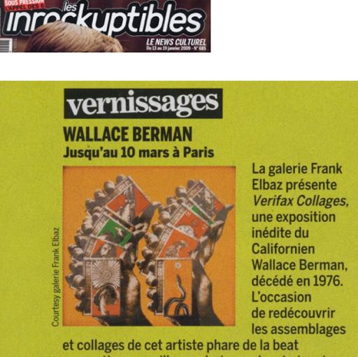 Wallace Berman Inrockuptibles 2009