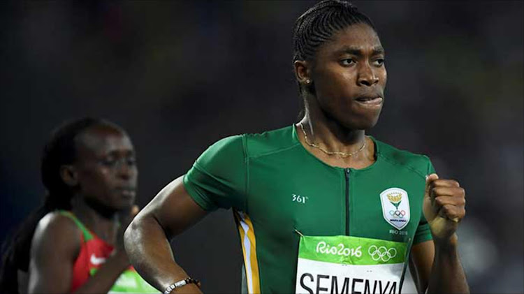 Caster Semenya gets ready for 1500m race in Switzerland.