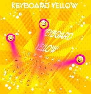 Žlutá Klávesnice zdarma - náhled