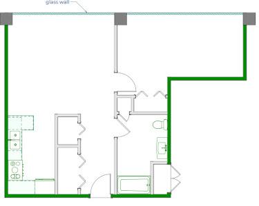 Palmer Floorplan Diagram 745 sq ft