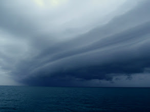 Photo: squall line in Hawk Channel #2 - June 2, 2013