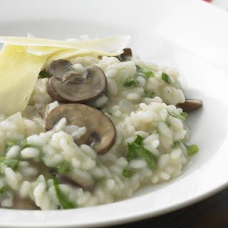 Creamy Arugula and Mushroom Risotto