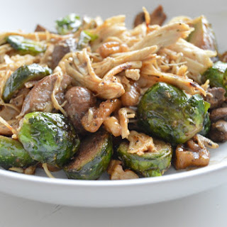 Creamy Balsamic Chicken and Brussel Sprouts (Whole 30).