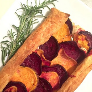 Roasted Vegetable and Goat Cheese Galette