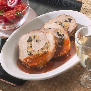 Schweinerollbraten mit Oliven-Ciabatta-Füllung