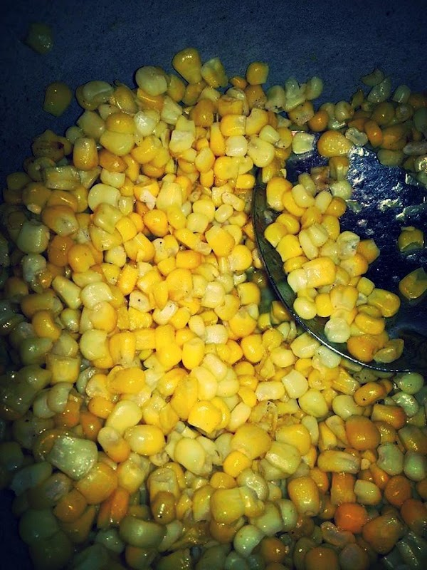 Heat whole kernel corn in it's liquid in a small sauce pan.  OR.... drain corn,...