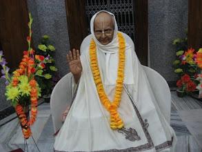 Photo: A murti of Sri Mahanambrata Brahmachari, looks almost living, inside the Memorial Temple of 2004 for Sri Mahanambrataji