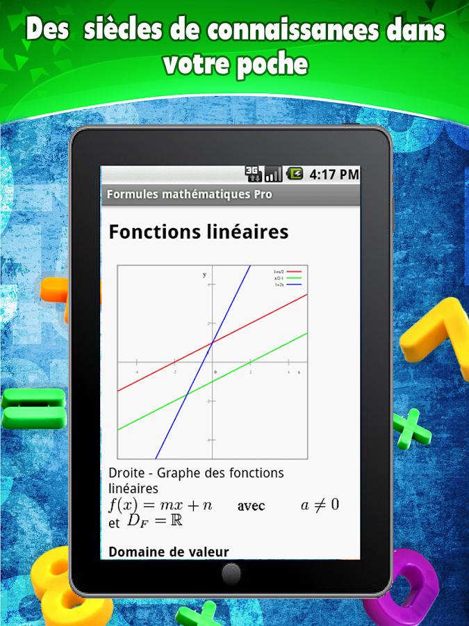 Formules mathématiques- screenshot