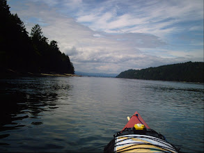Photo: False Narrows with Mudge Island on the left and Gabriola Island on the right.