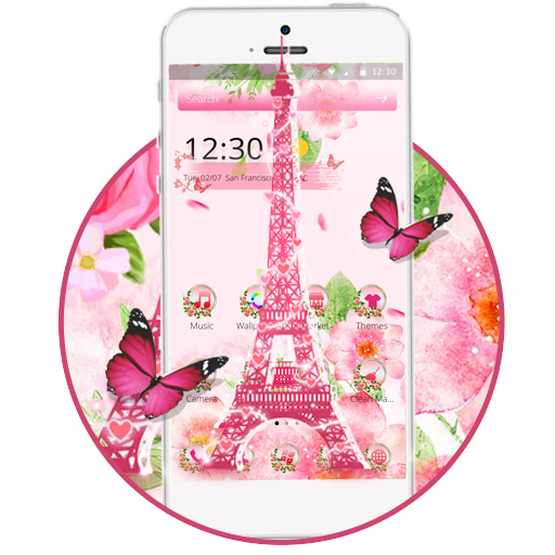 Pink Eiffel Tower Paris Theme