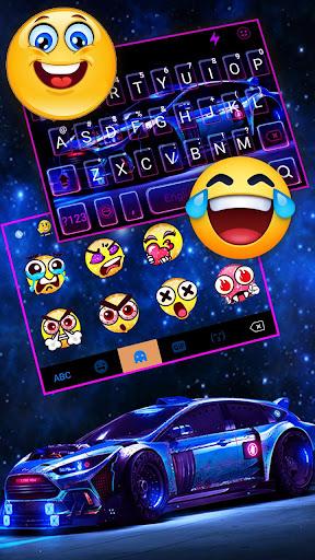 Racing Sports Car Keyboard Theme screenshots 3