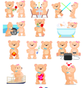Teddy Bear Emoji(Stickers) screenshot 0