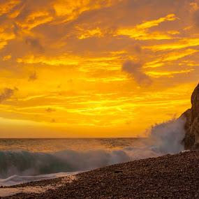 Pasjaca by Daniel Pavlinović - Landscapes Sunsets & Sunrises ( clouds, dubrovnik, pasjaca, croatia, pwcsunbeams-dq, konavle, sun )