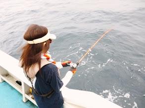 Photo: 高野夫人もヒット。 ・・・しかし、フグだった。