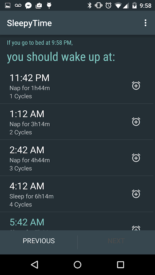 SleepyTime: Bedtime Calculator- screenshot