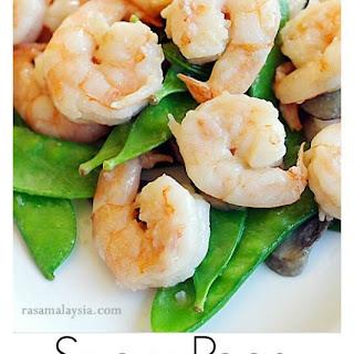 Shrimp with Snow Peas.