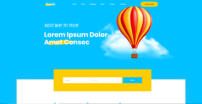 template web gratis tourbi