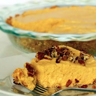 No-Bake Pumpkin Cheesecake with Sugared Pecans