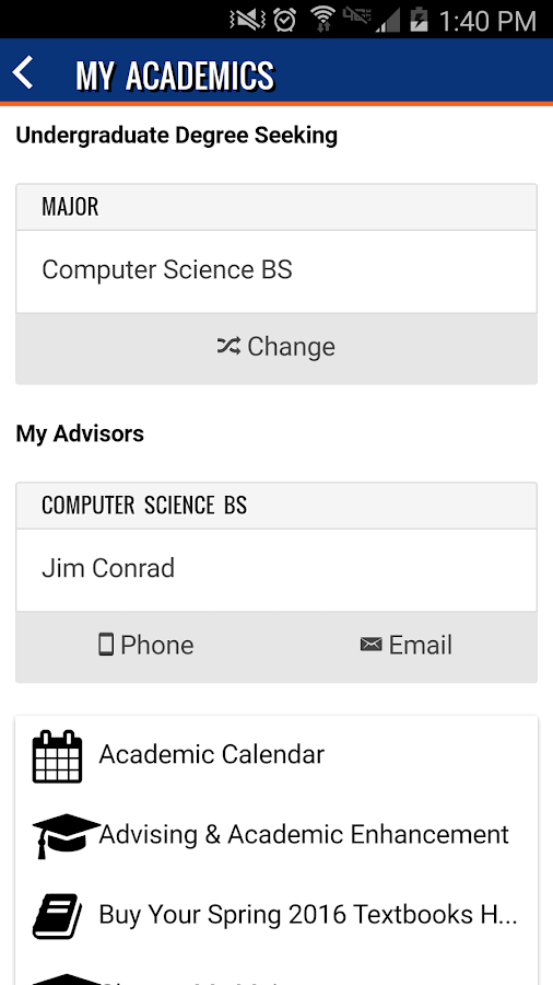 myBoiseState- screenshot