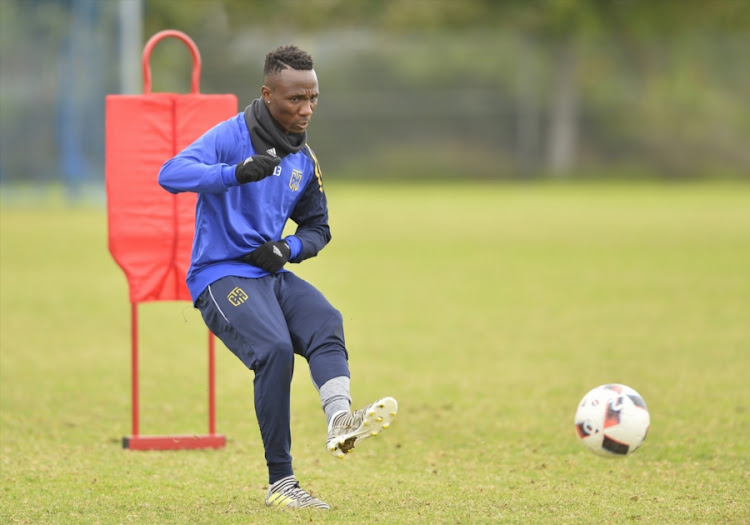 Teko Modise during the Cape Town City FC training session at Green Point Common Fields on August 02, 2017 in Cape Town, South Africa.