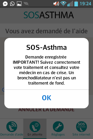 SOS-ASTHMA- screenshot