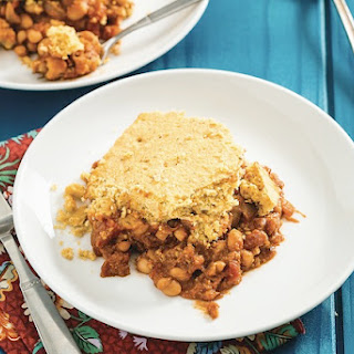 Maple-Baked Beans and Cornbread Casserole