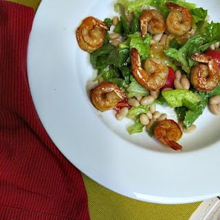 Honey Balsamic Grilled Shrimp and White Bean Salad Recipe