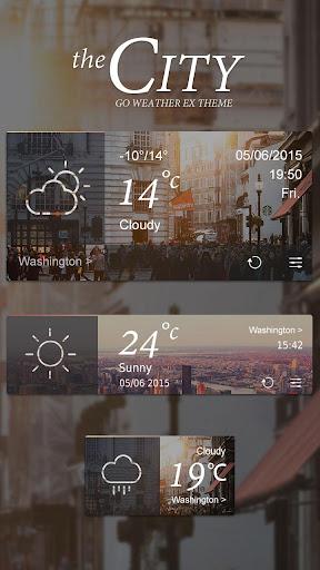City GO Weather Widget Theme