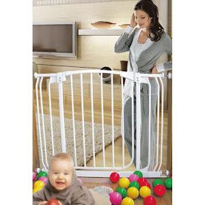 Poarta siguranta bebelusi, 71-82 cm, Alb