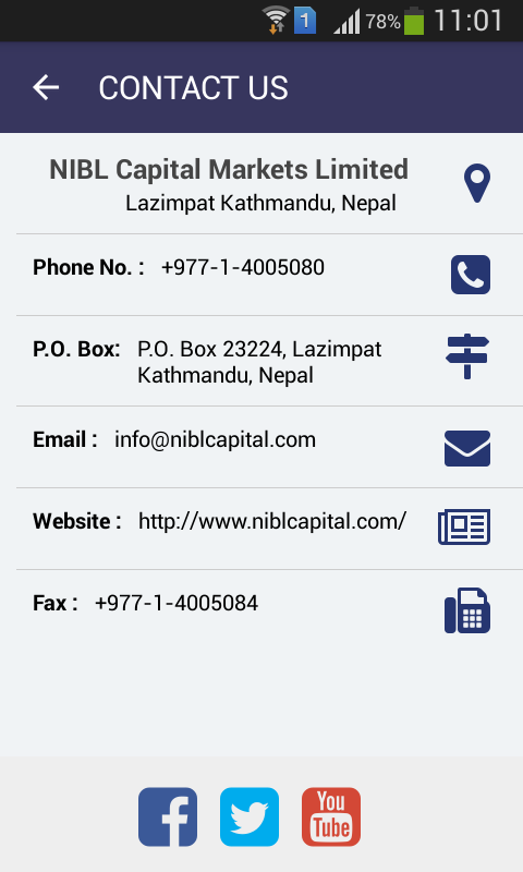 NIBL Capital Market Ltd.- screenshot