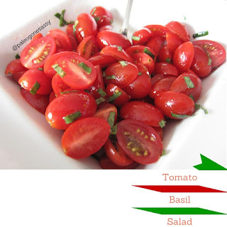 Tomato Basil Salad.