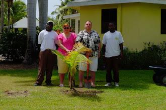 Photo: Another honeymoon palm planting atNisbet Plantation. Congratulations to Mr. and Mrs. Jeff Kunz.