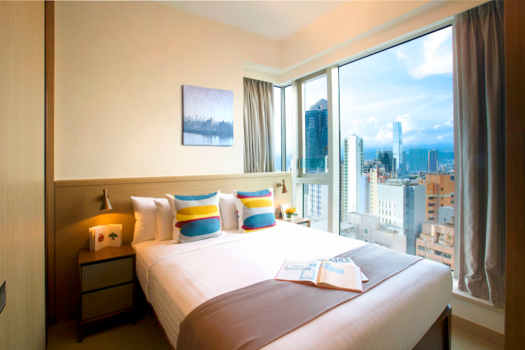 Bedroom at Soho Serviced Apartment, Hong Kong