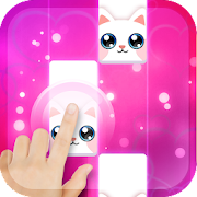 Pink Cat Piano - Magic Girly Piano Tiles Cat