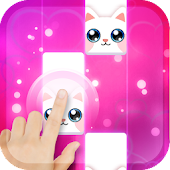 Pink Cat Piano - Magic Girly Piano Tiles Cat Icon
