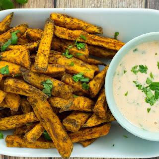 Sweet Potato Fries with Sriracha Aioli Recipe