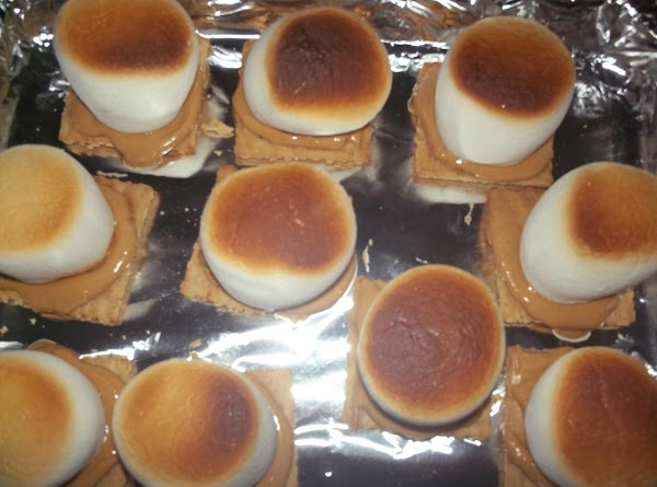Toast until the marshmallow slightly melts (or to your liking).