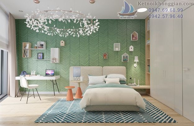 thiết kế phòng ngủ thân thiện gần gũi