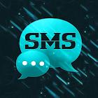Tema negro azul GO SMS Pro icon