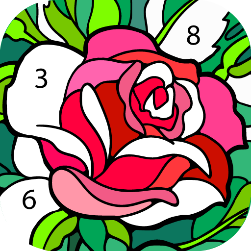 Happy Color – Color by Number Icon